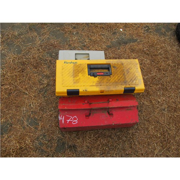3 TOOL BOXES , ALLAN WRENCHES