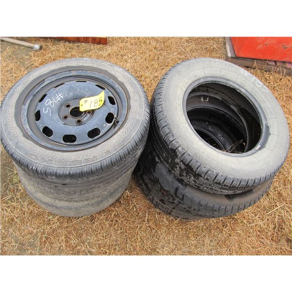 """6 USED TIRES (MOSTLY 15"""")"""