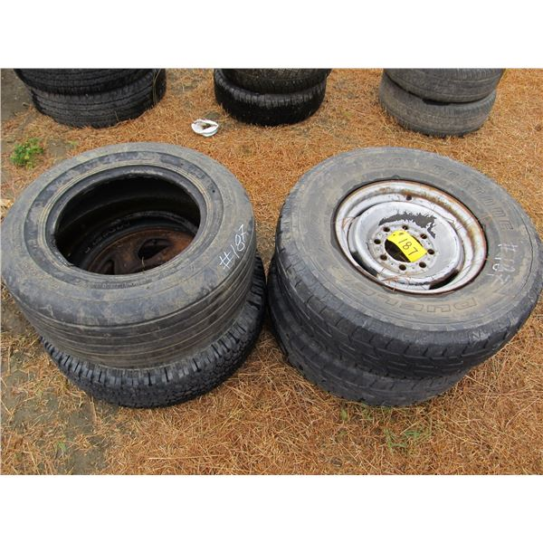 """16"""" TIRES (SOME ON RIMS)"""