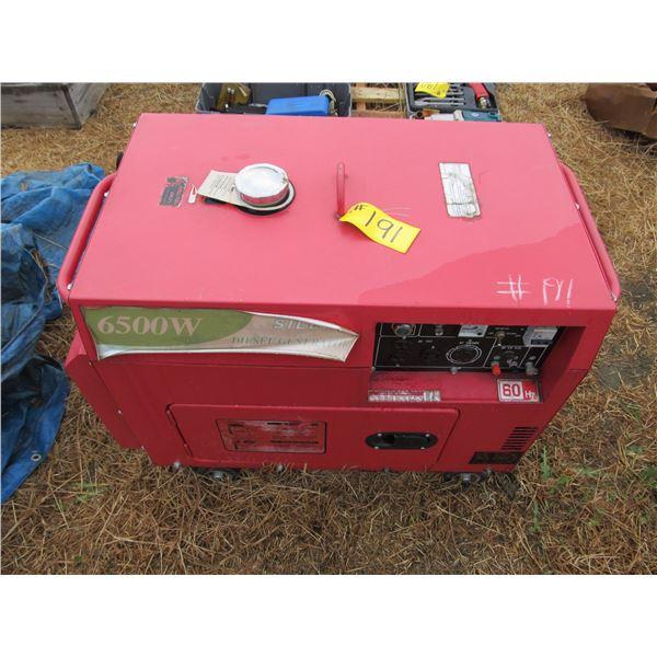 SILENT 6500W DIESEL GENSET (NEEDS ELECTRICAL WORK)