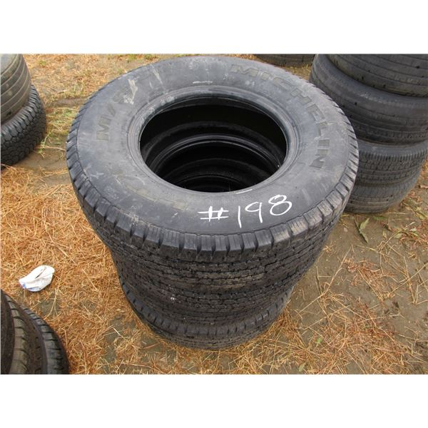 4 - MICHELIN 245/75/16 TIRES (SHOW SIDEWALL CRACKING)