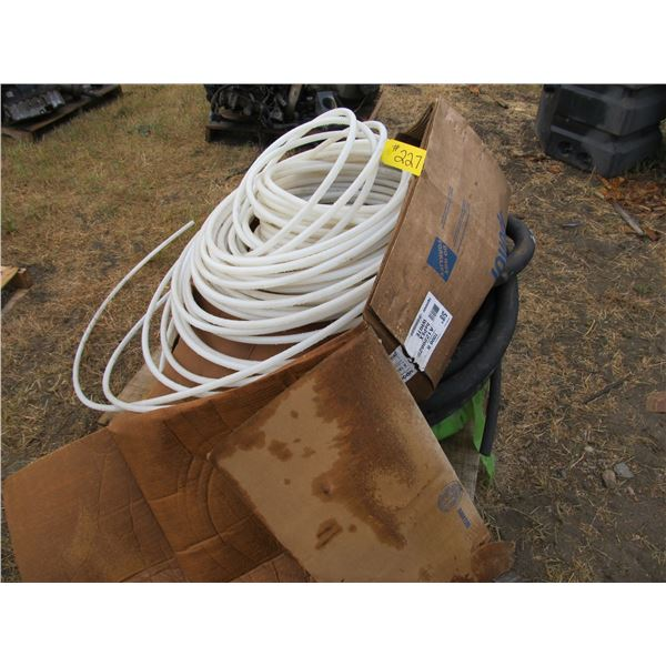 """QUANTITY OF PEX 5/8"""" LINE AND SPOOLS OF BRAIDED HYDRAULIC LINE"""