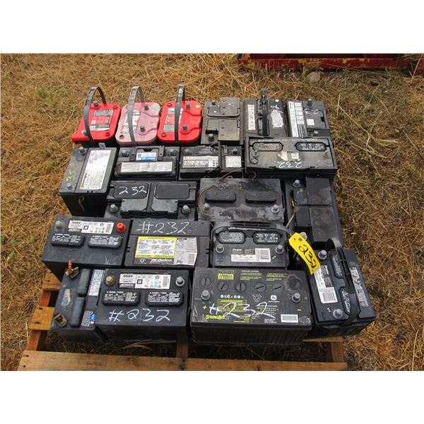 PALLETS OF USED BATTERIES