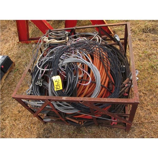 CRATE OF WIRE ROPE AND CABLE