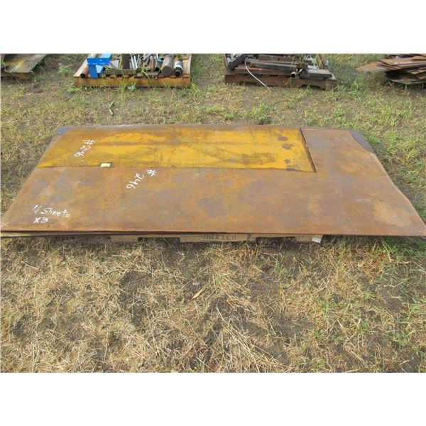"""2.5 SHEETS OF 1/4"""" X 4 X 8' STEEL PLATE"""