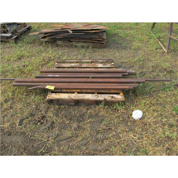 PALLET OF COLD ROLL STEEL AND SHAFT MATERIAL