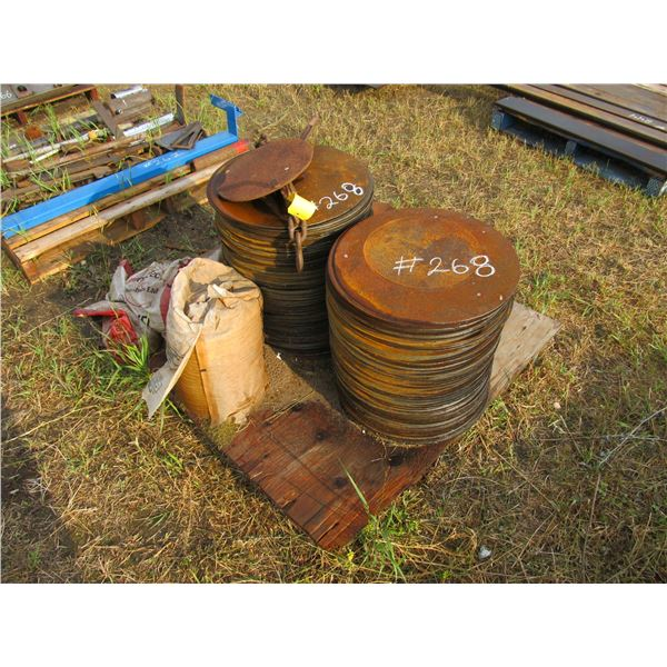 """MISC 18"""" ROUND DISC PLATES  (APPROX. 1/16"""" THICK)"""