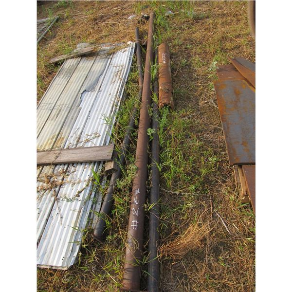 """4 PIECE OF 1.5 - 3"""" STEEL PIPE"""