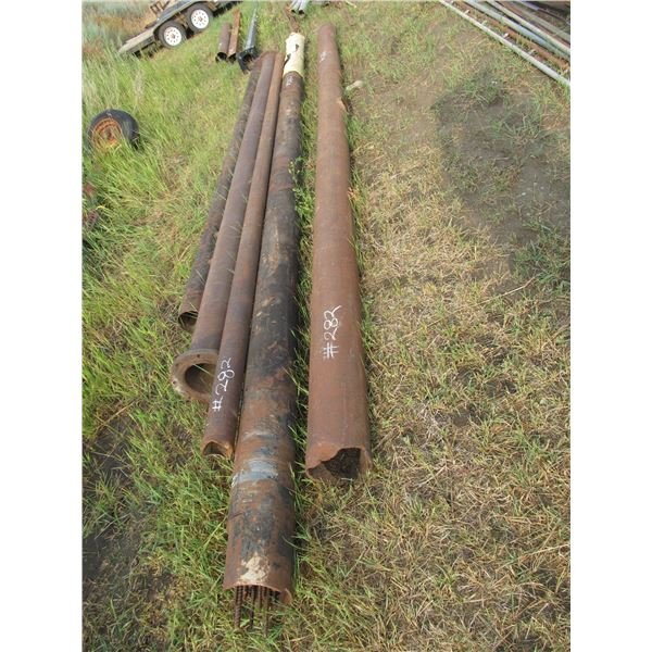 """5 PIECES OF 8""""-10""""PIPE (APPROX 20' LONG), APPROX 20 PIECES REBAR"""