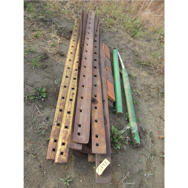USED GRADER BLADES AND USED HYDRAULIC CYLINDERS