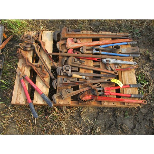 BOOMERS, PIPE WRENCHES, BOLT CUTTERS