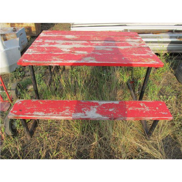 STEEL FRAMED PICNIC TABLE