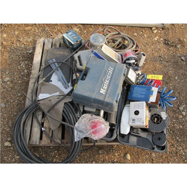 MIG WELDER WIRE, RED BEACON LIGHTS, RECIPROCATING SAW, OXY ACETYLENE EQUIPMENT,1.5 TONNE JACK