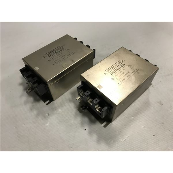 Lot of (2) TDK #ZAGT2250-02A Noise Filter