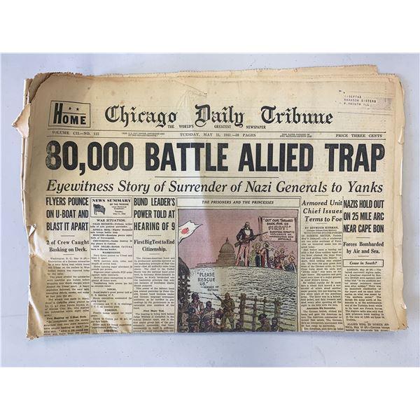 Chicago Daily Tribune Original 1943 Vintage Newspaper