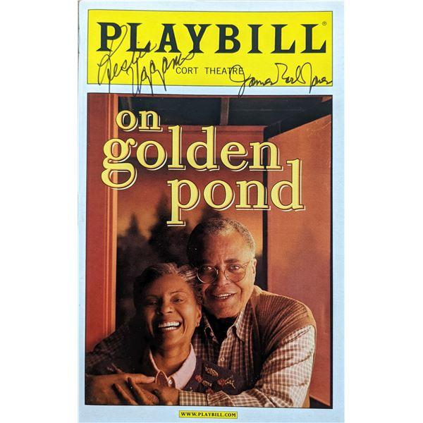 James Earl Jones On Golden Pond Signed Playbill