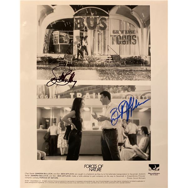 Forces of Nature Ben Affleck and Sandra Bullock signed movie photo