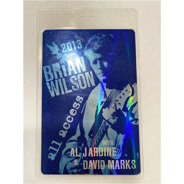 Brian Wilson 2013 Backstage Pass