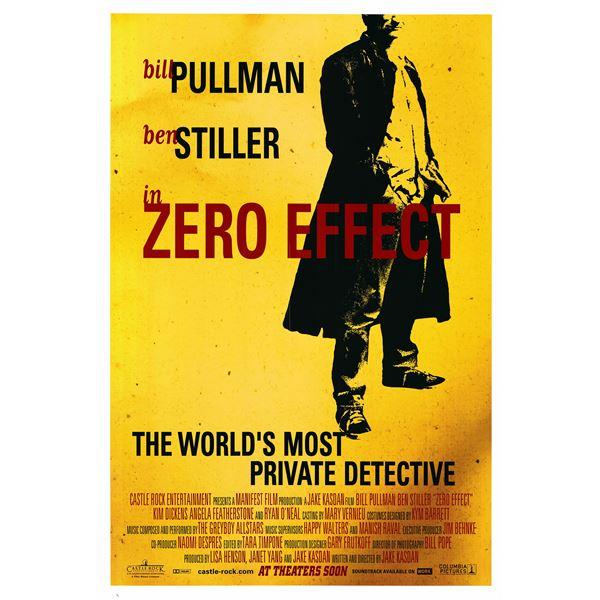 Zero Effect 1998 original one sheet poster