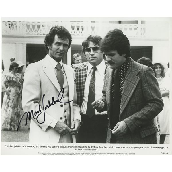 Roller Boogie Mark Goddard signed movie photo