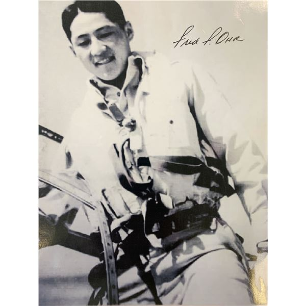WWII Flying Ace Fred Ohr signed photo
