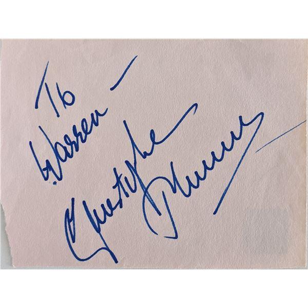 Christopher Plummer Signature Cut