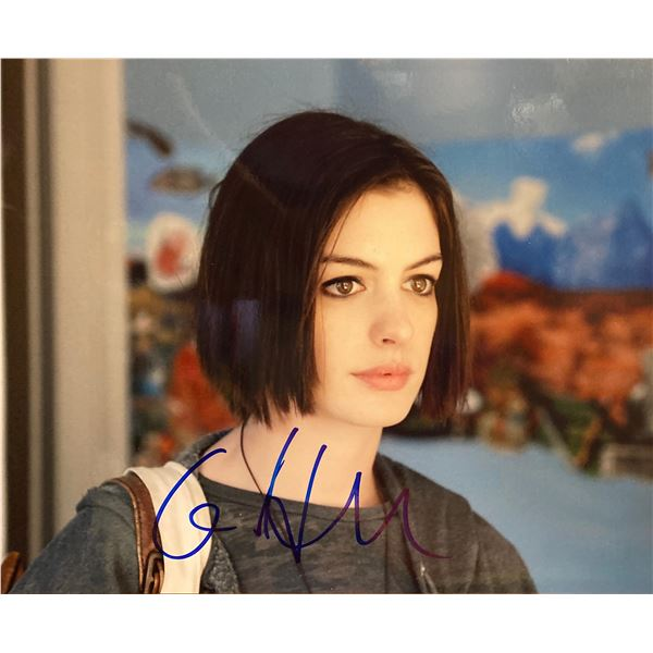Anne Hathaway signed photo