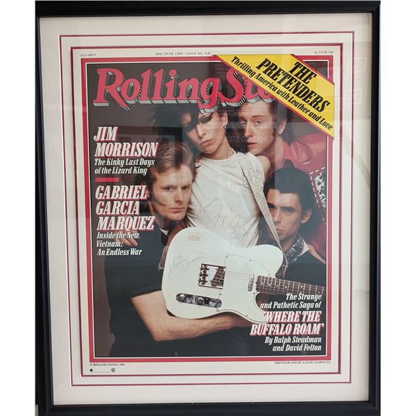 The Pretenders Custom Matted and Framed Rolling Stone Cover Signed Poster