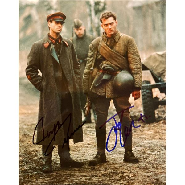 Enemy at the Gates Jude Law and Joseph Fiennes signed movie photo