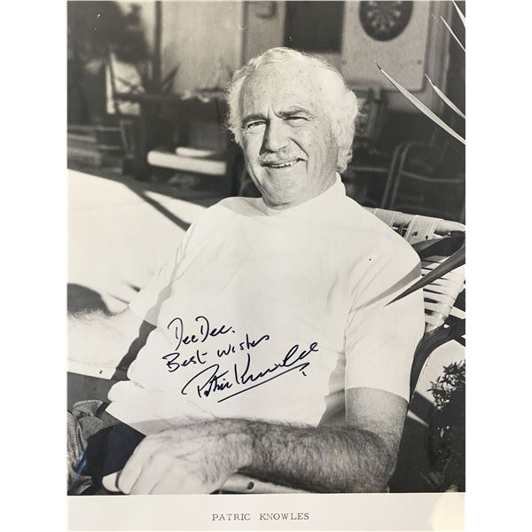 Patric Knowles signed photo
