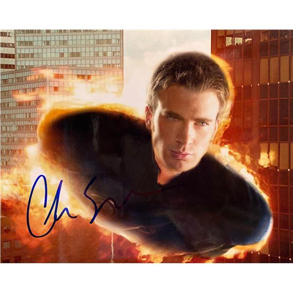 Fantastic Four Chris Evans signed movie photo