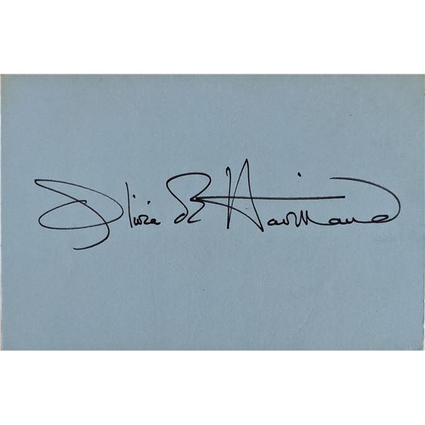 Olivia De Havilland Signature Cut