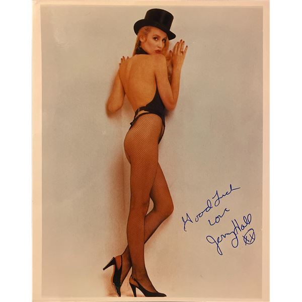 Jerry Hall signed photo