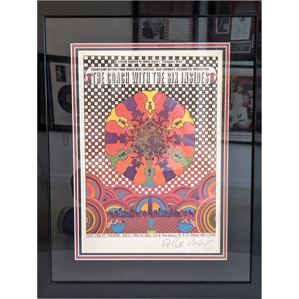 Peter Max The Coach With The Six Insides Custom Matted and Framed Signed Poster