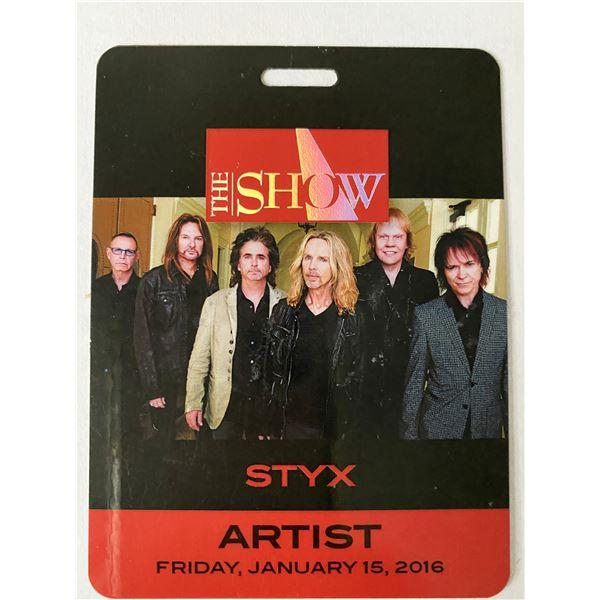 Styx 2016 Backstage Pass