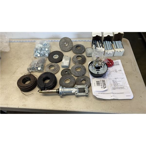 TRAY OF GRINDING WHEELS
