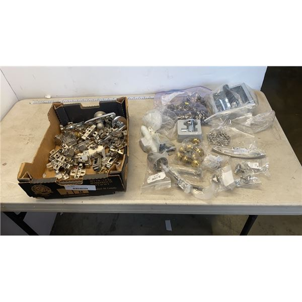BOX OF NEW CABINET HARDWARE