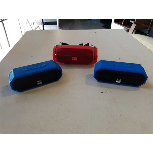 2 ALTEC LANSING AND JBL PORTABLE BLUETOOTH SPEAKERS