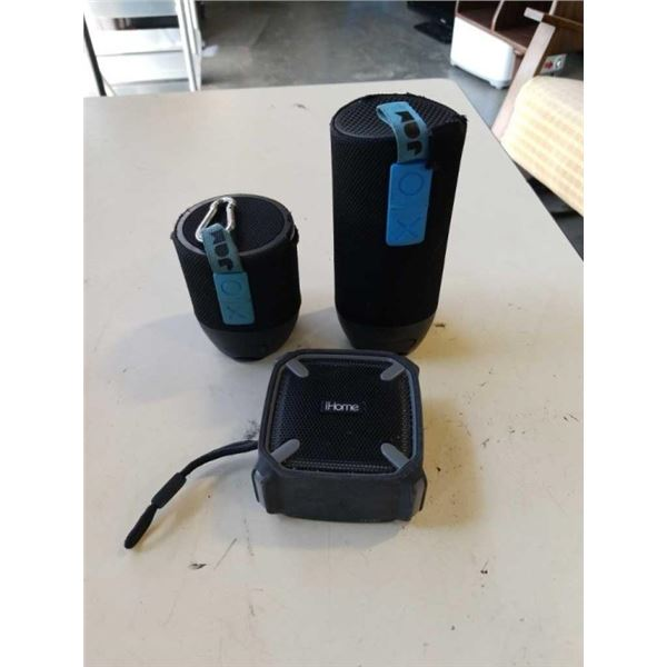 IHOME AND 2 JAM WIRELESS BLUETOOTH SPEAKERS