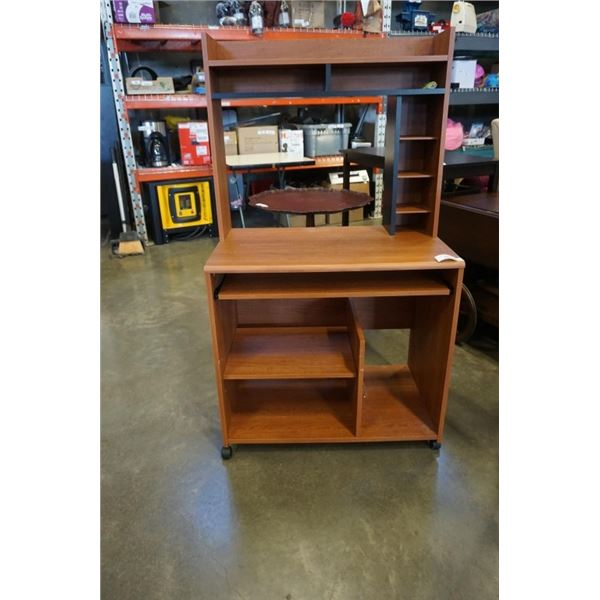 ROLLING IKEA DESK WITH HUTCH