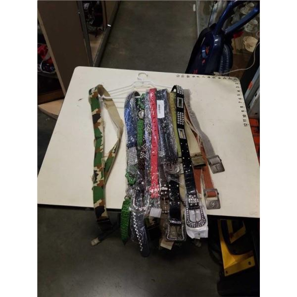 15 ASSORTED NEW BELTS
