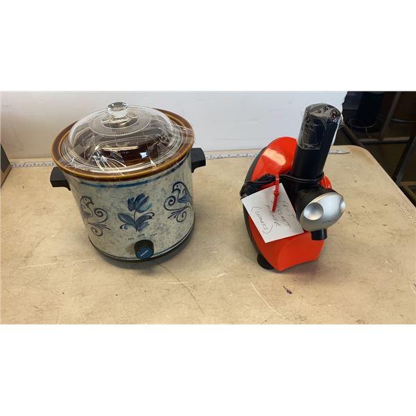 FRUIT DESSERT MAKER AND SLOW COOKER