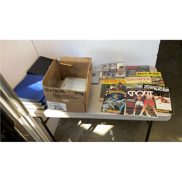 10 BINDERS OF SPORTS CARDS AND VINTAGE SPORTS MAGAZINES - COMPLETE SETS