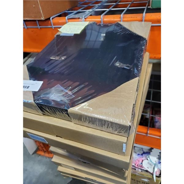 10 NEW SOLID WOOD BLACK 9 X 12 INCH PICTURE FRAMES - RETAIL $20+ EACH