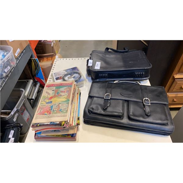 VINTAGE COMICS, LAPTOP BAG AND NOTEBOOK COMPUTER CABLE LOCK