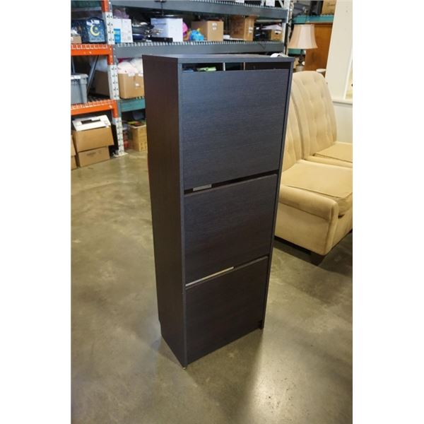 IKEA 3 DRAWER SHOE CABINET - 53 INCHES TALL, 20 WIDE, 11 DEEP