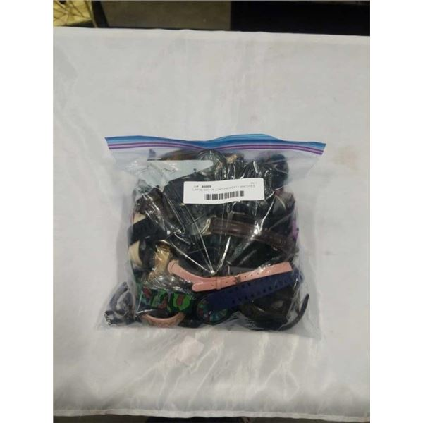 LARGE BAG OF LOST PROPERTY WATCHES
