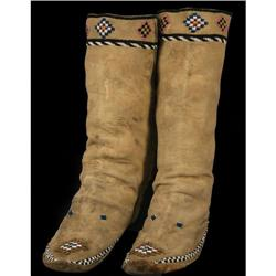 Apache Beaded High Top Moccasins