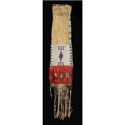 Sioux Tobacco Bag, Beadwork and Quillwork