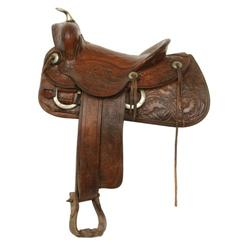 R.T. Frazier Tooled Saddle, 1920s